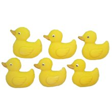 6 Large Edible Ducks Baby Shower Cupcake topper decorations