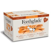 Forthglade Complete Meal Adult Variety Pack (Lamb, Turkey, Chicken with Brown Rice), 12 x 395g