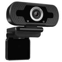 Black 1080P HD Webcam | HD Plug & Play Web Camera With Mic