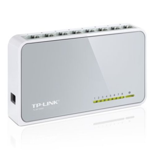 Tp-Link TL-SF1008D 8-Port 10/100 Unmanaged  Desktop Switch Plastic Case TL-SF1008D