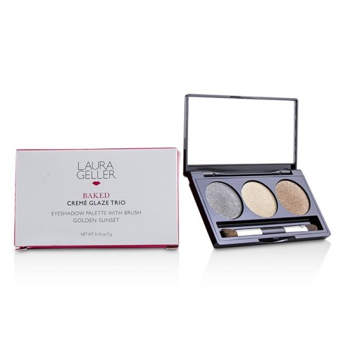 Baked Cream Glaze Trio Eyshadow Palette With Brush - # Golden Sunset - 3g/0.1oz