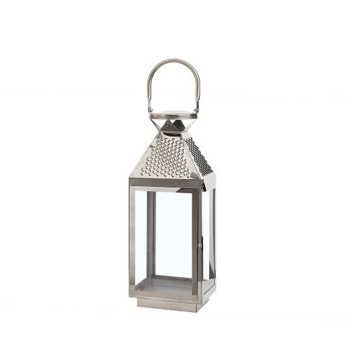 Decorative Lantern 40 cm Silver BALI