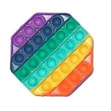 Octagon Pop It Finger Push Pop Pop Bubble Sensory FidgetToyAutism Kids
