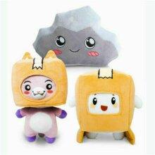 Lankybox BOXY + FOXY + ROCKY Plush Soft Toys Kid Game Figure Plushie Doll