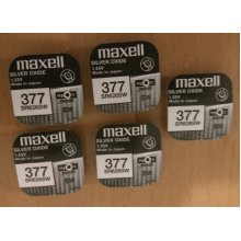 5 x Maxell SR626SW AG4 377 1.55v Silver Oxide Watch Coin Batteries