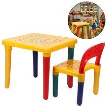 ABC Alphabet Childrens Plastic Table and Chair Set - Child Kit