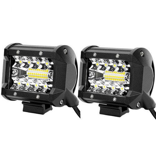 4 inch Work Lights Spot Flood LED Light Bar Reverse 4WD 12V 24V Spread