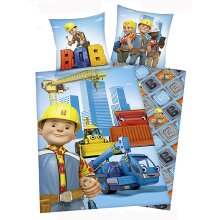 Bob the Builder Cotton Single Duvet Cover and Pillowcase Set -