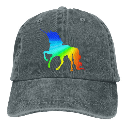 Unicorn Gay Pride Denim Baseball Caps