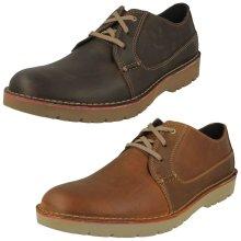 Mens Clarks Smart Cushion Soft Insole Shoes Vargo Plain - G Fit