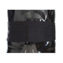 Black Wide Belt Silk Cummerbund
