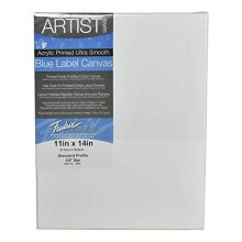 Fredrix 11 by 14 Inch Ultrasmooth Stretched Canvas