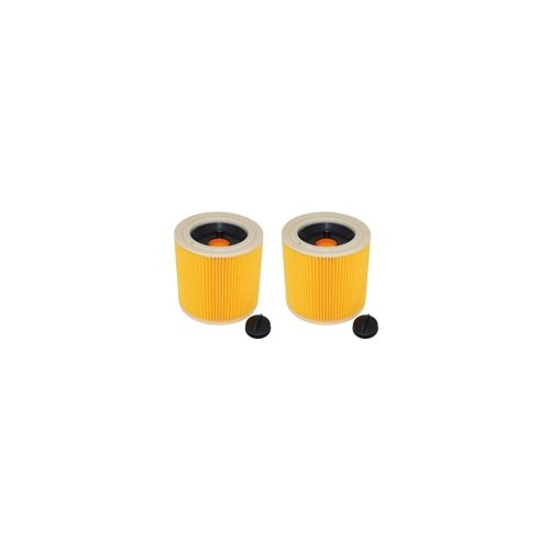 Fits Karcher Wet and Dry Corrugated Vacuum Cleaner Filter x 2 Pack