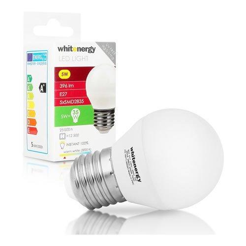 WHITENERGY LED Bulb  5x SMD 2835 LED  B45  E27  5W 230V  White Warm (10073)