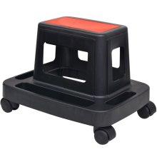 vidaXL Rolling Workshop Stool with Storage 150kg Organiser Trolley Workbench