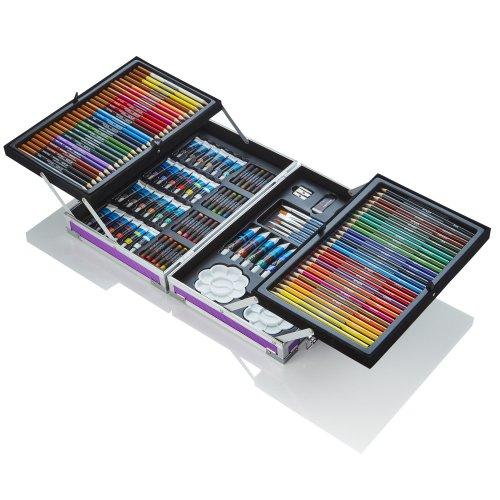 Artworx Purple 125 Piece Aluminium Art Case