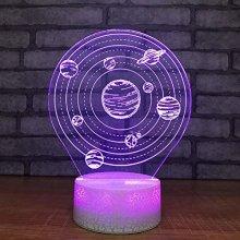 Universe Planet Model Crack Optical Illusion Lamp Led 3D Lamp Night Light Acrylic Atmosphere Lamp 7 Color Modern Lamp