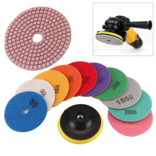 "11X Diamond Polishing Pads 4"" Grinding Disc For Marble Concrete"