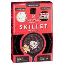 Chocolate Brownie Skillets & Brownie Cast Iron Skillet Baking Xmas Kit