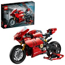 LEGO 42107 Technic Ducati Panigale V4 R Motorbike, Collectible Superbike Display Model
