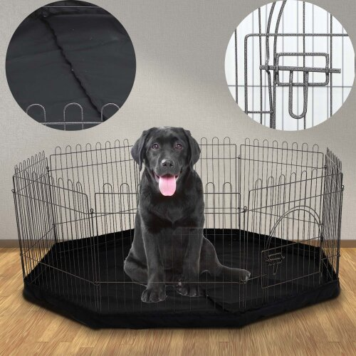 Pet Playpen 8Sided Cage&Mat Indoor/Outdoor Garden Run Dog/Puppy/Rabbit