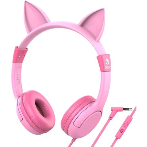 iClever HS01 Kids Headphones with Mic, Food Grade Safe Volume limited