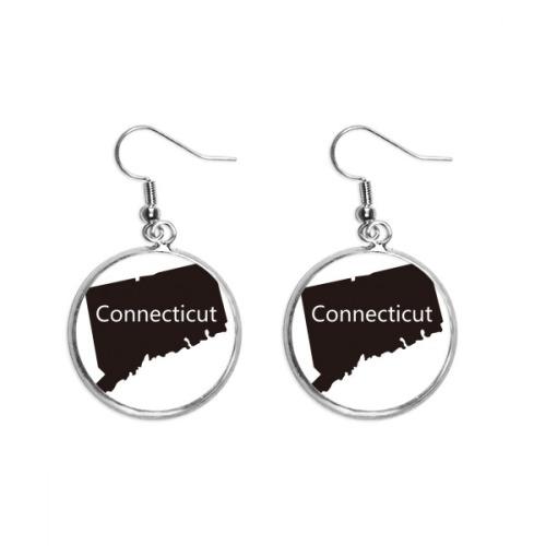 Connectic America USA Map Silhouette Ear Dangle Silver Drop Earring Jewelry Woman