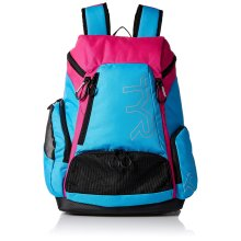 TYR Unisex's Alliance Backpack, Blue/Pink, Medium/30 Litre