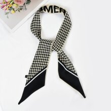 SF1267-BLACK Charming New Fashion Style Houndstooth Long Scarf