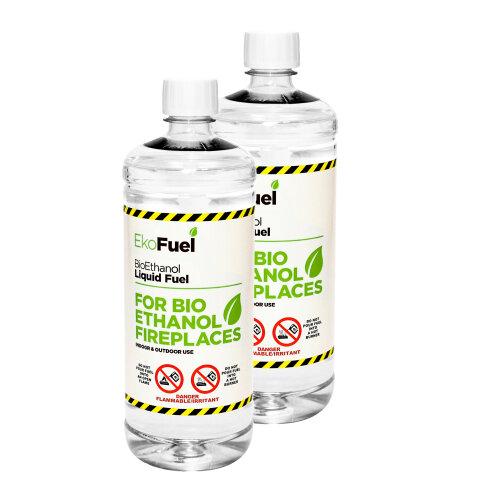 (2L) Premium BioEthanol Fuel for Fires (unscented)