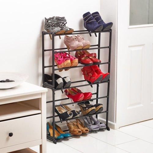 6 Tier storage rack shoe/& multi storage unit space saving storage plastic frame
