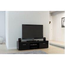 Birlea Edgeware Black High Gloss 2 Door Tv Unit