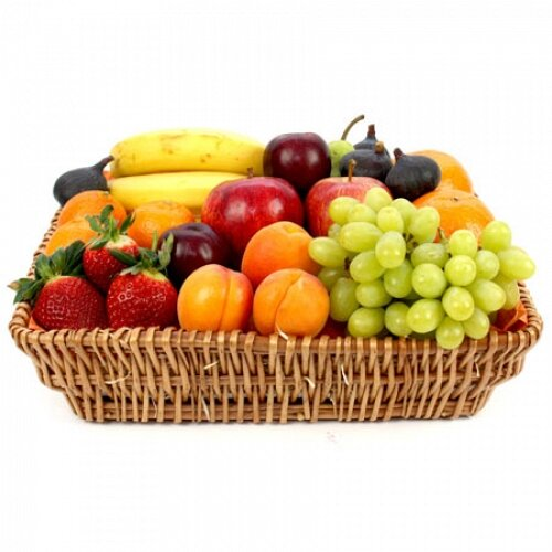 Healthy Living Fruit Basket Fruit Gift Baskets And Gift Hampers With Personal Message Attached On Onbuy