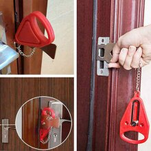 Portable Security Door Lock Privacy Travel Hotel School Lockdown Temporary Lock