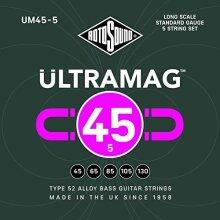 Rotosound UM45-5 - Ultramag 5 String Bass Guitar Strings | 45-130