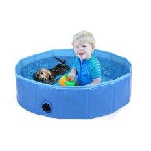 Folding bath pool for pets and kids