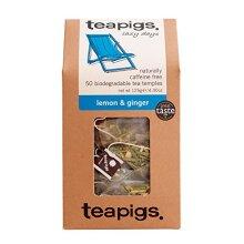 Teapigs Lemon & Ginger Herbal Tea Bags Made With Whole Leaves (1 Pack of 50 Tea bags)