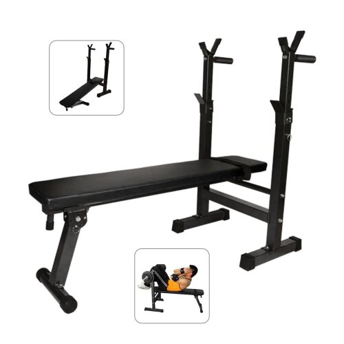 Adjustable Lifting Barbell Sit Up Weight Bench Gym Workout Decline
