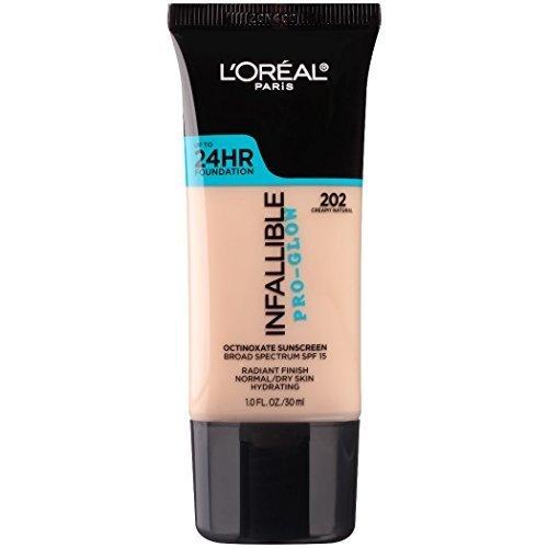 L Oreal Paris Makeup Infallible Up To 24Hr Pro Glow Foundation 202 Creamy Natural 1 Fl Oz