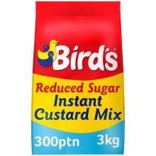 Birds Reduced Sugar Instant Custard Mix - 1x3kg