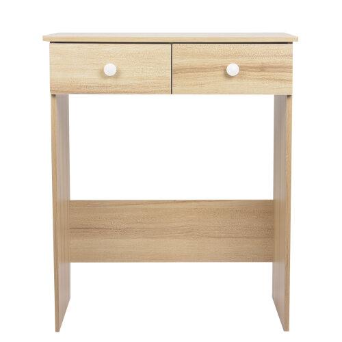 (Maple Sakura) 2 Drawer Dressing Table Wooden Vanity