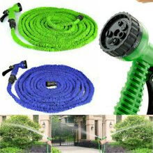 25-150ft Expanding Garden Sprinkler water hose pipe compact & Spray Fittings Retractable