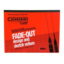 Clearprint Vellum Pad with 30Degree Isometric FadeOut Grid 8.5x11 Inches 16 lb. 60 GSM 1000H 100% Cotton 50 Translucent White Sheets 1 Each (10005410)