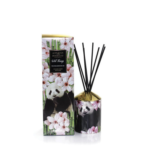 Ashleigh & Burwood Wild Things Luxury Scented Reed Diffuser Boxed Gift Set Pandamonium - Green Bamboo