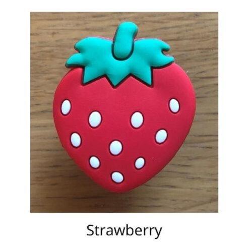 (Strawberry) mobile phone holder Socket Finger grip Stand UK