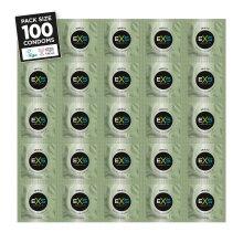 100 x Exs Snug Fit Condoms | Smaller Size Tighter Trim Close Fit | Vegan Condoms