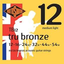 Rotosound 80/20 Bronze Medium Light Gauge Acoustic Guitar Strings (12 16 24 32 44 54)