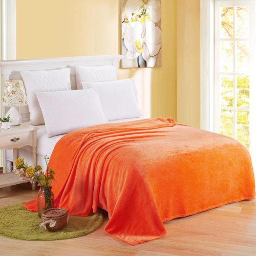 (Orange, 120*200cm) Luxury Throw Blanket
