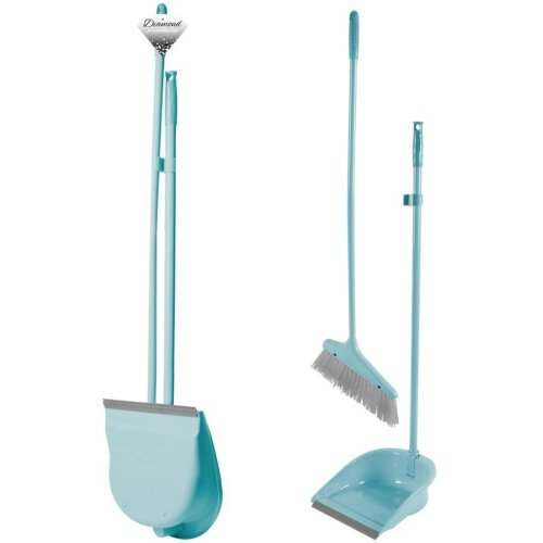 Long Handle Dustpan And Brush 2 Piece Sweeping Set Folding Cleaning Accessories