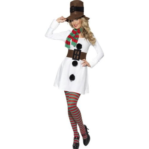 Large Ladies Miss Snowman Costume -  costume snowman christmas fancy dress miss ladies outfit womens adult new